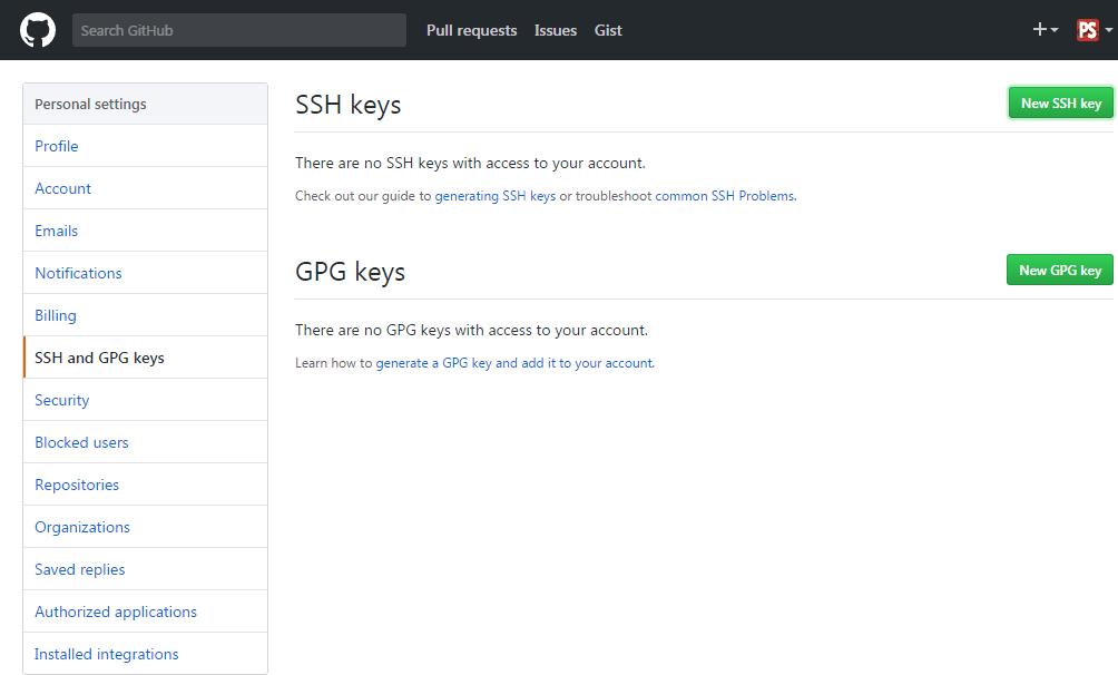 what is ssh key github