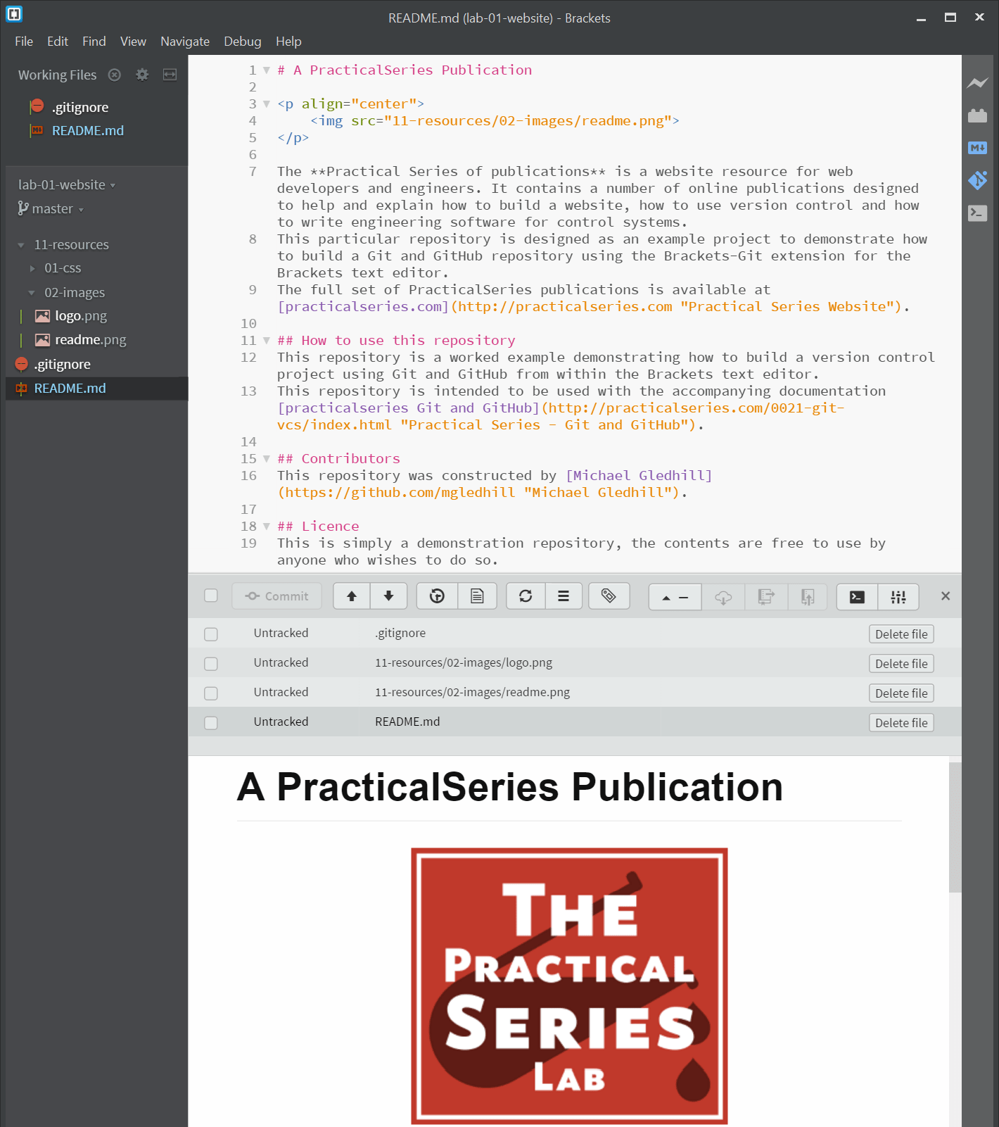 Creating the folder structure and initial files | PracticalSeries
