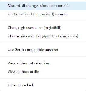 Switching branches with Brackets-Git | PracticalSeries: Brackets-Git and  GitHub